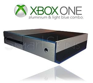 Microsoft Xbox One Aluminium Brossé Bleu La Peau Enveloppe Couverture Decal