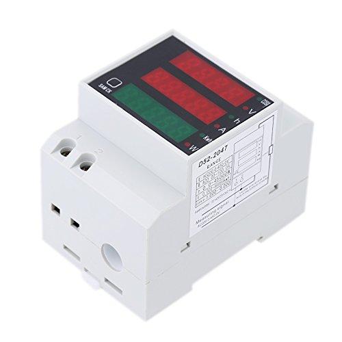 KKmoon 200-450V Multifunktionale Amperemeter Digitale DIN Schiene Strom Stromamperemeter Voltmeter Anzeige Gerät Leistungsmesser