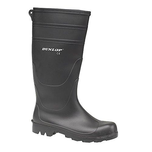 Dunlop - Botas de agua estilo Wellington de PVC modelo Universal para hombre (44 EU/Verde)