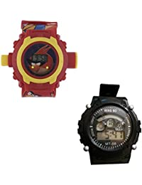Shanti Enterprises Combo Angry Bird 24 Images Projector Watch And Sports Watch Multi Color Dial For Kids - B0756ZSDBZ