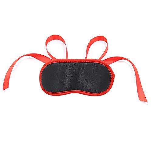 Soft Sponge Blinder Eyes Mask para mujer Negro y rojo con los ojos vendados Producto para adultos@negro rojo