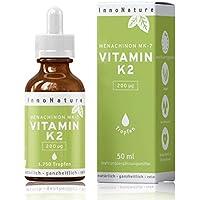 Vitamin K2 MK7 (Menachinon) 1.750 Tropfen (200µg pro Portion) in 50ml Flasche. Premium Gnosis VitaMK7. Organisches natives Olivenöl mit Menaquinon aus Fermentation >99% All-Trans. Laborgeprüft, hohe Bioverfügbarkeit, hochdosiert, vegan & hergestellt in DE.