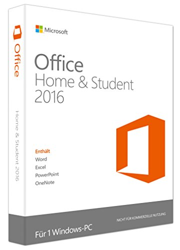 Microsoft Office Home and Student 2016 (Product Key Card ohne Datenträger) (2008 Office)