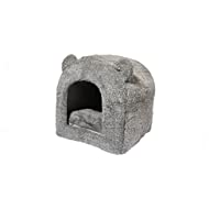 Rosewood Teddy Bear Cat Bed, 38 x 38 cm, Grey