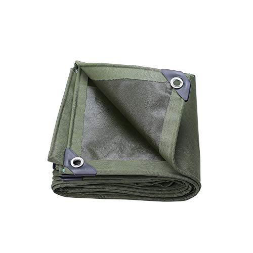 Beständig Laminat (QFFL Abdeckplane Outdoor-Plane, Dickes Segeltuch Heavy Duty Tarps - Hochdichte Plane und Doppeltes Laminat 100% Wasserdicht und UV-beständig, 600 G/Sek, Army Green (Size : 2X4M))