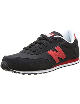 New Balance 410, Zapatillas Unisex Niños, Multicolor (Black/Red), 28.5 EU