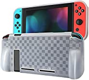 Protective Case Compatible with Nintendo Switch, Dockable Grip Case Cover Protector Accessories Anti-Scratch S