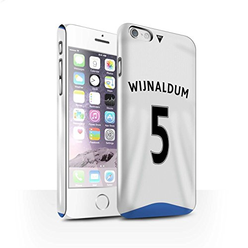 Offiziell Newcastle United FC Hülle / Glanz Snap-On Case für Apple iPhone 6 / Krul Muster / NUFC Trikot Home 15/16 Kollektion Wijnaldum