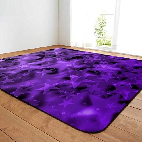 MXK Fantasy Star Carpet - Kinderspielmatte Rutschfeste, Hochdichte Geflochtene Moderne Teppich Für Wohnzimmer Schlafzimmer Soft Touch 200x150 cm (Farbe : Lila, größe : 150x100cm) -