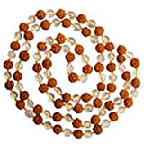 """Rudra Divine Combination-of-Sphatik and Rudraksha as a Wearable Mala, 100% Original and Very Rare by""""Make in India"""