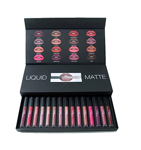 Huda Beauty Combo Liquid Matte Lipstick Set Of 16 Piece