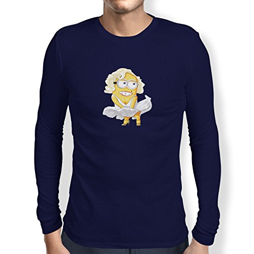 TEXLAB - Banana Monroe - Herren Langarm T-Shirt Navy