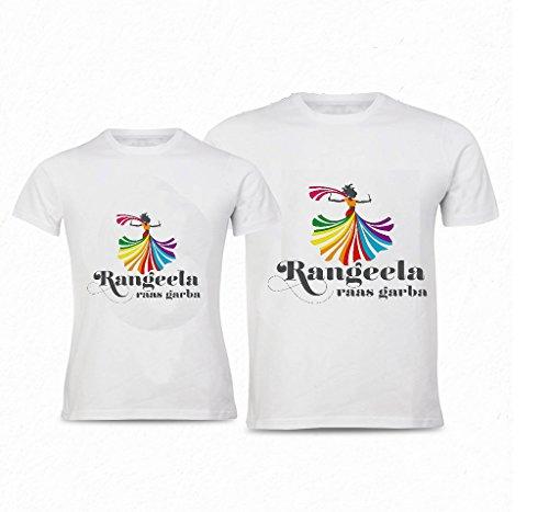 Raas Garba Couple Combo Tshirts (Pack-2)