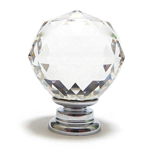 Sonline Pequeno 30mm Claro Cristal Armario de puerta del boton