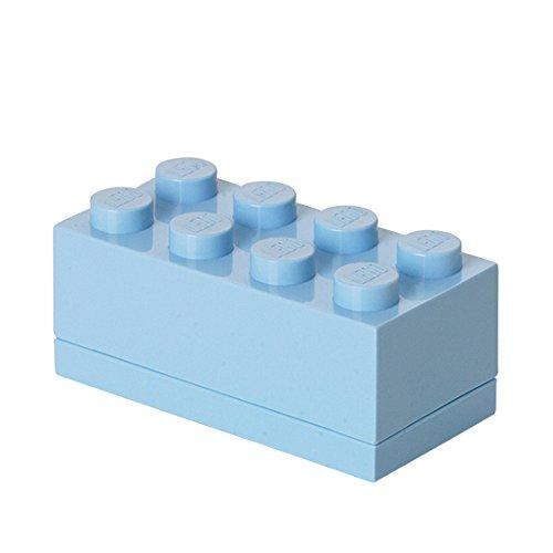 Lego 4012 Minicaja de 8 espigas, Caja para tentempiés, Azul Claro, plástico, Cielo