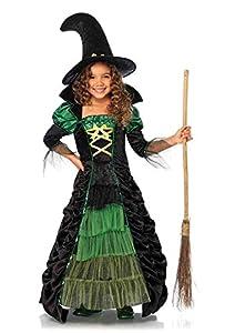 Leg Avenue- Guerrero Niñas, Color negro y verde neón, Medium (122-128 cm de altura) (C4908902091)