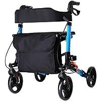 HHBO Multi-Function Walking Aids / Four-Wheel Shopping Cart, Voyage en aluminium avec un siège 6 Stalls Hauteur réglable pour les personnes âgées - Pour aider l'exercice de réadaptation des jambes et la marche auxiliaire
