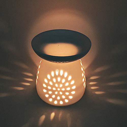 DEBON Ceramica Hollowing Floreale Lampada diffusore Olio Essenziale Aroma aromaterapia fornace incenso...