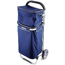 Protenrop Duo-Tech - Carro de compra con bolsa, 35 y 9 litros