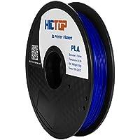 HICTOP 1.75mm Universal 3D Printing PLA 3D-Drucker Glühfaden - 0,5kg Spool (1,1 lbs) - Dimensional Genauigkeit +/- 0,05 mm (blau)