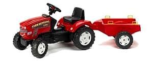 Falk - 1060B - Vélo et Véhicule pour Enfant - Tracteur - Farm Mustang 680I et Remorque