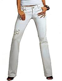 Laura scott pantalon de jean vINTAGE blanc