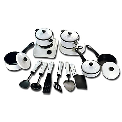 Austinstore Kid Play Kitchen Utensils House Toy Cooking Pots Pans Food Dishes Toy Set 13pcs