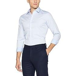 JACK & JONES PREMIUM Jprnon Iron Shirt L/s Noos, Camisa para Hombre, Azul (Cashmere Blue Fit:Slim Fit) Large