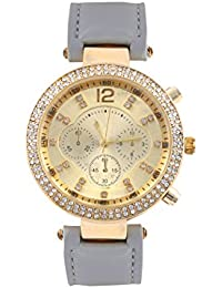 KMS Grey Round Dial Stylish Women Analog Watch