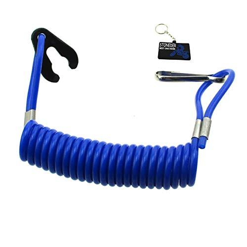 STONEDER Blaue Sicherheits-Tether Lanyard-Schnur für Jet-Ski-Boots-Raubvogel Banshee ATV