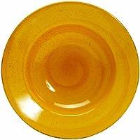 Quid Fusilli World Food Italie 2058047 - Juego de platos de pasta (6 unidades, cerámica, 27 cm), color amarillo