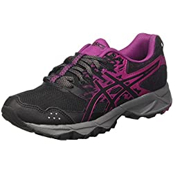 Asics Gel-Sonoma 3, Zapatillas de Running para Asfalto para Mujer, Multicolor (Black/Baton Rouge/Black 9032), 36 EU