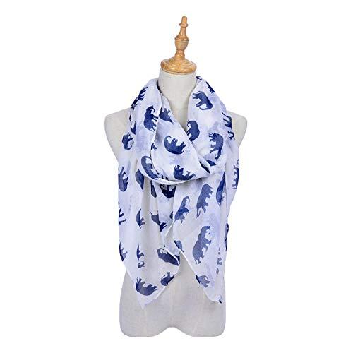Hmeian Nähen Sie Elegante Damen-Baumwollschals, Die Sarongschals Für Damen Umhüllen,Weiß_180 * 90 Cm -
