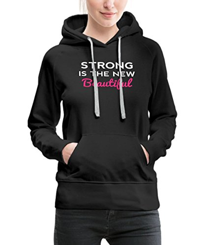 Spreadshirt Strong Is The New Beautiful Gym Motivation Women's Premium Hoodie