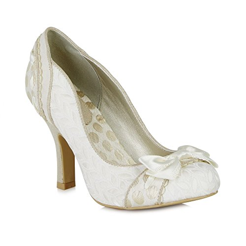 LADIES RUBY SHOO AMY CREAM 1950S VINTAGE INSPIRED RETRO WEDDING SHOES-UK 3 (EU (1950 Schuhe)