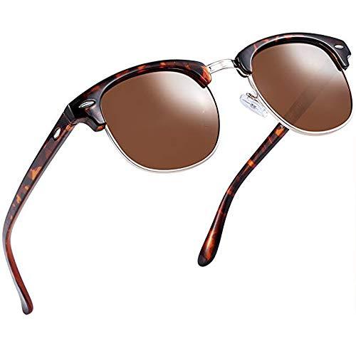 Aisprts Gafas sol polarizadas retro medio marco clásico