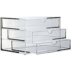 Osco Aufbewahrungssystem mit drei Schubladen, aus Acryl