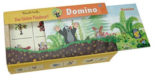 Trötsch 39223 - Domino Petite Taupe, boîte en Bois
