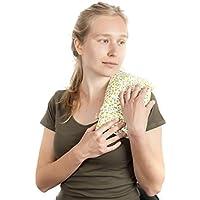 ✿ BOUILLOTTE SÈCHE THERMIQUE MICROONDE ✿ 30x17cm Sac Coussin Oreiller de graines de Blé et de Fleurs de Lavande pour Micro-ondes 100% Coton ➤ST10