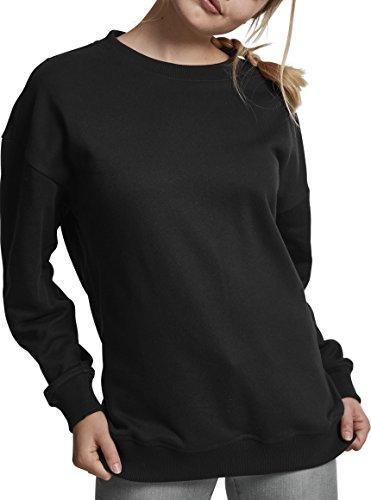 Urban Classics Damen Ladies Oversize Crewneck Pullover, Schwarz (Black 00007), X-Large (T-shirts Womens Neck Loose)