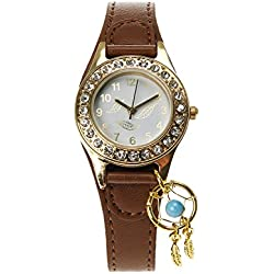 Claire's Girls and Womens Tan Dreamcatcher Charm Wrist Watch