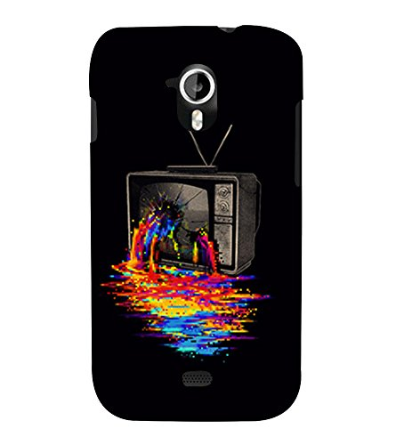 Broken Television 3D Hard Polycarbonate Designer Back Case Cover for Micromax Canvas HD A116 :: Micromax A116 Canvas HD  available at amazon for Rs.389