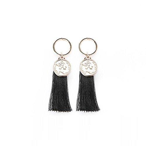 Olydmsky Damen Ohrringe Ohrringe Retro Runde fließen Sur dekoriert ca. 6cm -