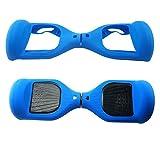Coque de protection à 180 ° en silicone pour hoverboard et trottinette électrique à deux roues de 16,5 cm (Bleu foncé)