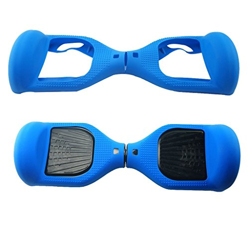 Preisvergleich Produktbild 180 Protection Hoverboard Case Cover, Silicone Scratch Protector for 6.5 Inch 2 Wheels Self Balancing Scooter Electric Scooter (Blau)