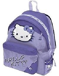 Mochila Hello Kitty Escuela americano carpeta rosa o glicinas a elegir, color Glicine