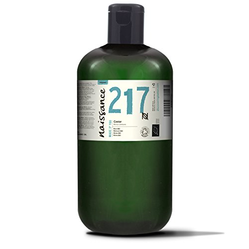 Naissance Rizinusöl BIO 1 Liter (1000ml) - reines, natürliches, BIO zertifiziertes, kaltgepresstes, veganes, hexanfreies, gentechnikfreies Öl - pflegt und spendet Feuchtigkeit für Haare, Wimpern und Augenbrauen