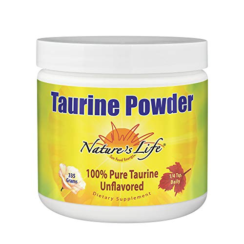 41ML1IRJYWL. SS500  - Nature's Life, Taurine Powder, Unflavored, 335 g