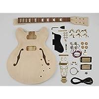 Style de corps creux Kit Assemblée Guitare - Tilleul Corps / 22 frettes / manche vissé (KIT-ES-40)