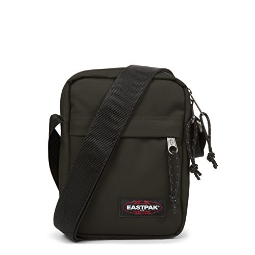 Eastpak La Borsa A Tracolla Monocolore, In Denim Kaki Color Nero 21 Cm